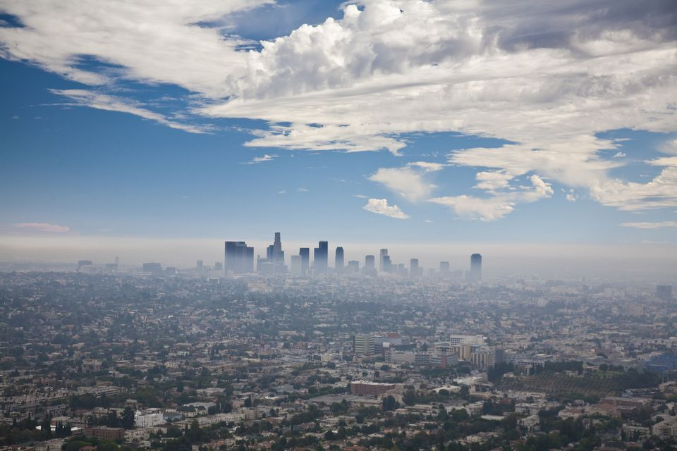 LA covered in smog