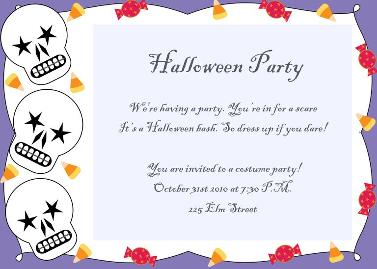 21 free halloween invitations that you can print a halloween invitation with skulls and candy doityourselfinvitations stopboris