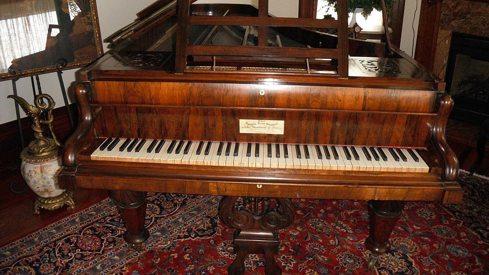 Victorian Pianoforte Residing in The Queen Anne Mansion in Eureka Springs, Arkansas