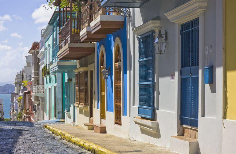 Calle San Justo (San Justo Street), Old San Juan, Puerto Rico.