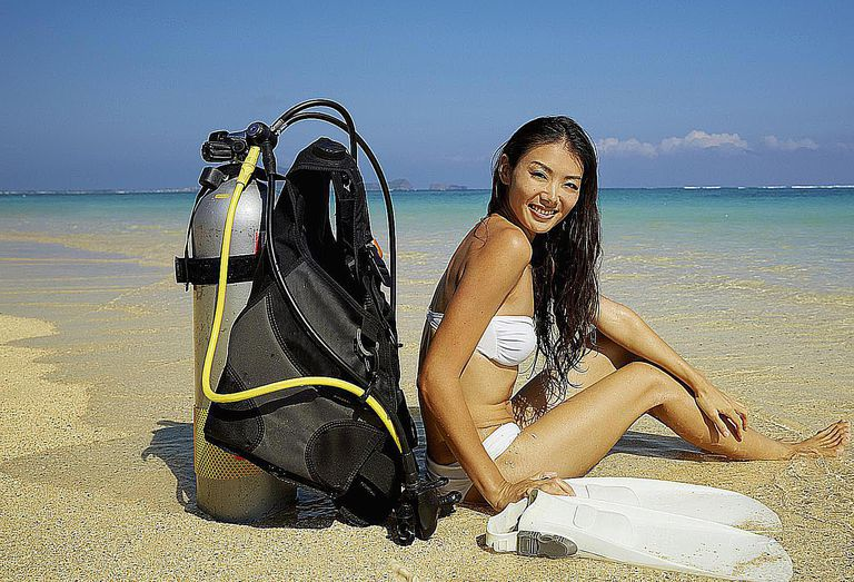 Diver on the Beach