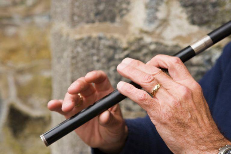 Flautist playing flute, Ireland