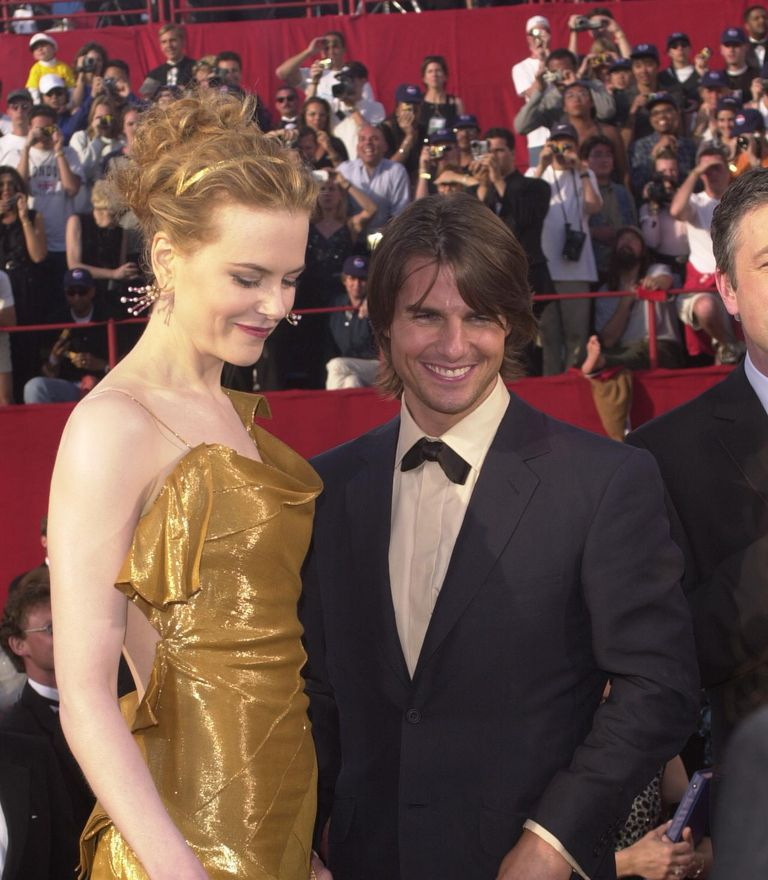 Nicole Kidman and Tom Cruise at the Academy Awards in 2000.