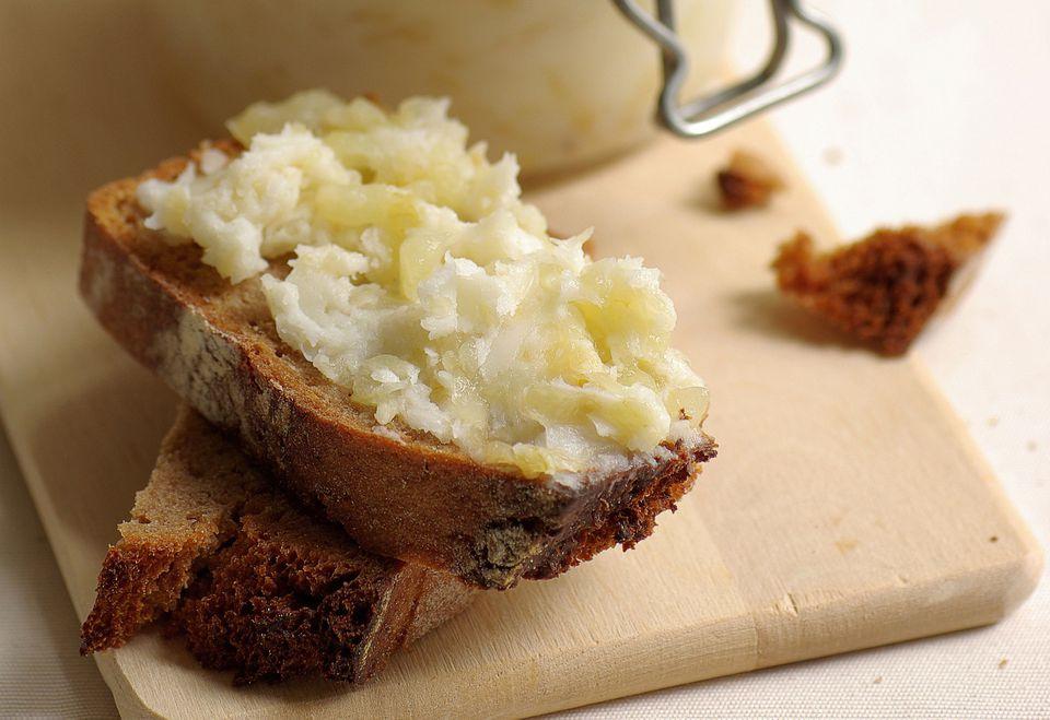 Rendered Lard or Smalec on Bread