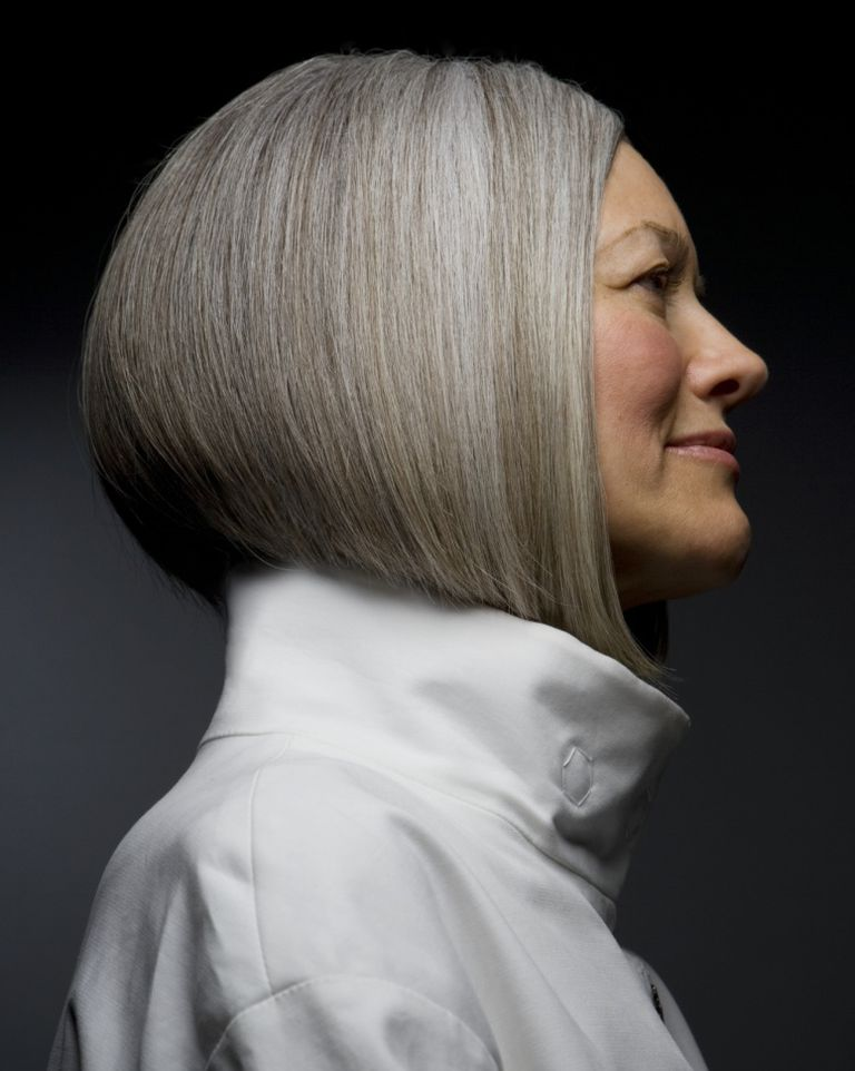 Photos of gorgeous gray hairstyles cool gray hair shown from the side pmusecretfo Choice Image