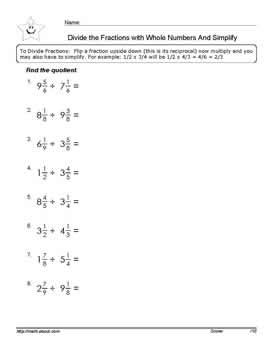 Simple Math Worksheet Word Division Of Fractions With Mixed Number Workheets Adding Punctuation Worksheet Word with Idioms Exercises Worksheets Word Divide The Fractions With Mixed Numbers Worksheets Pdf Below Worksheet   English Grammar Free Worksheets