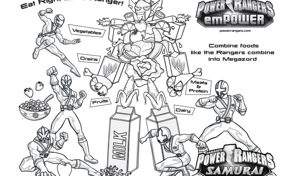 Power Rangers Coloring Page Power Rangers Samuri