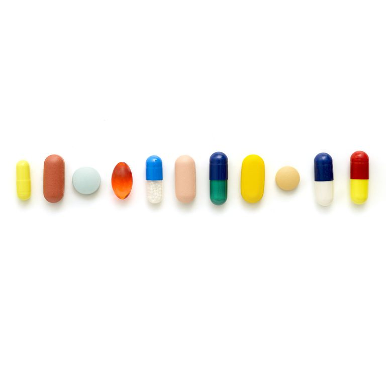 Coloured capsules and tablets