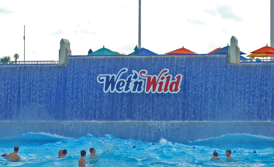 Wet'n Wild water park in Orlando, Florida is part of the Universal theme parks.