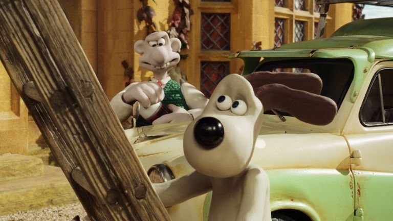 shot from Wallace and Grommet animated film