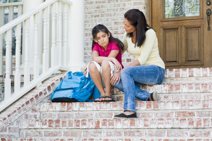 Provide support to a child who is refusing to go to school.