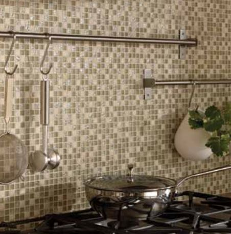 Glass Stone Mosaic Kitchen Backsplash