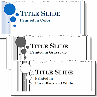 print powerpoint 2010 slides in color grayscale or pure black and white