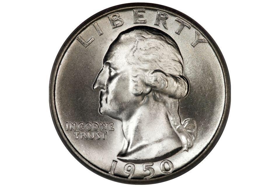 Uncirculated 1950 Washington quarter