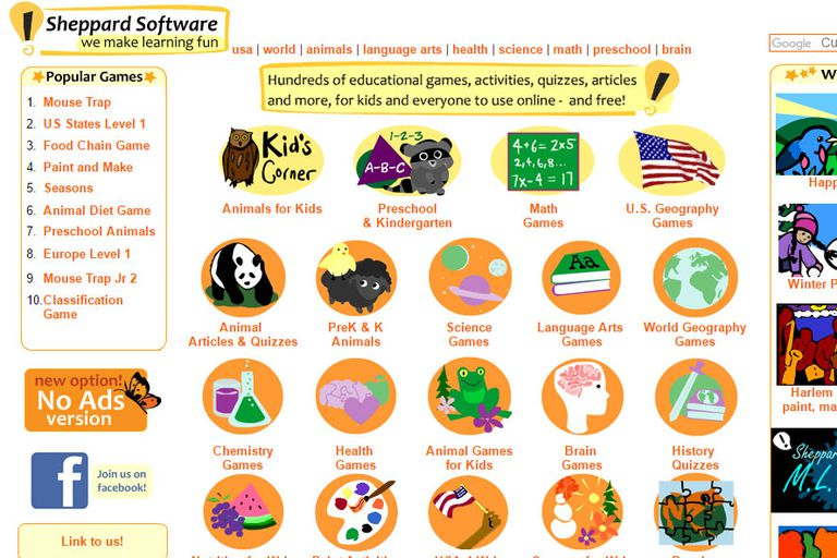 Sheppard Software screen shot