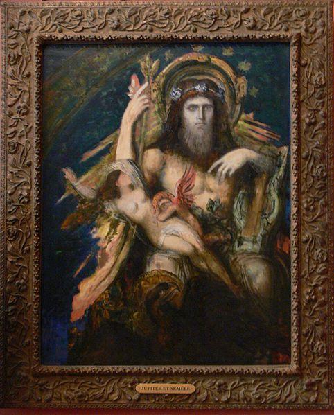 Jupiter and Semele by Gustave Moreau