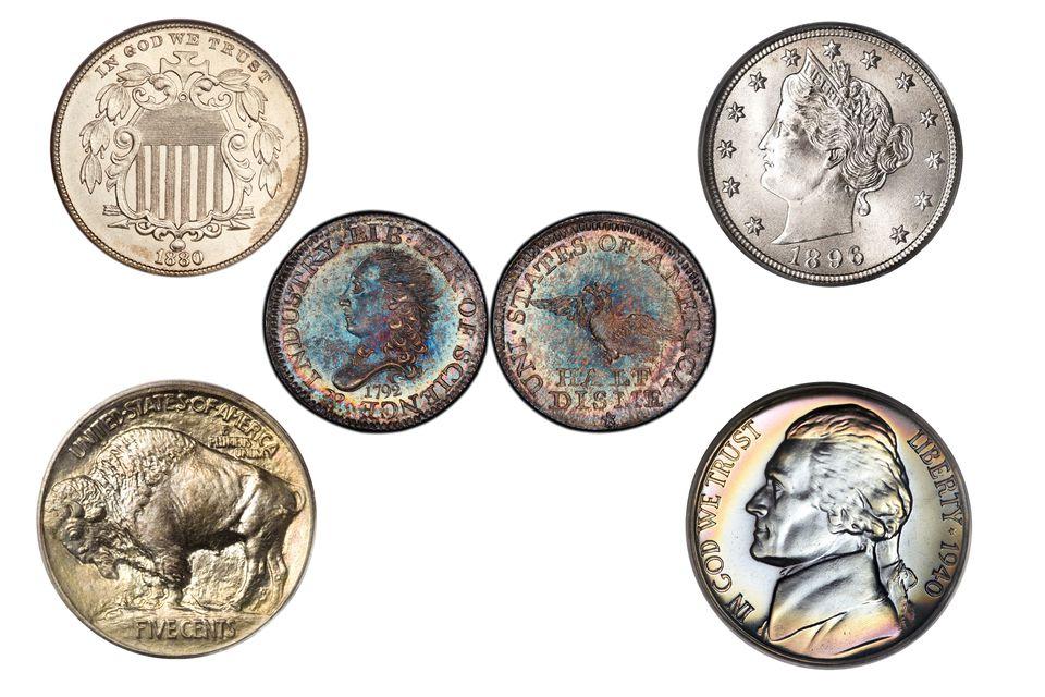 Examples of U.S. Nichols and Half Dimes