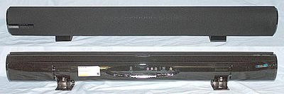 hitachi axs014btu. hitachi hsb40b16 sound bar - front and rear view axs014btu