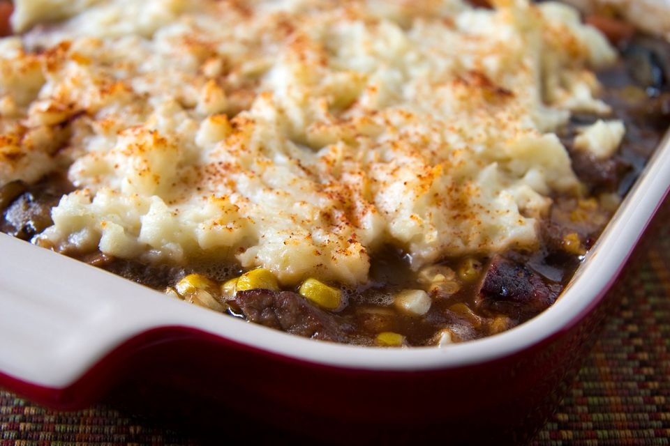 Ground Beef Casserole with Potato Topping