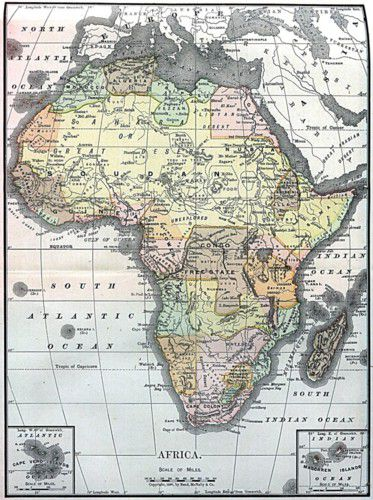 Various Maps Showing How Big Africa Is - A map of africa