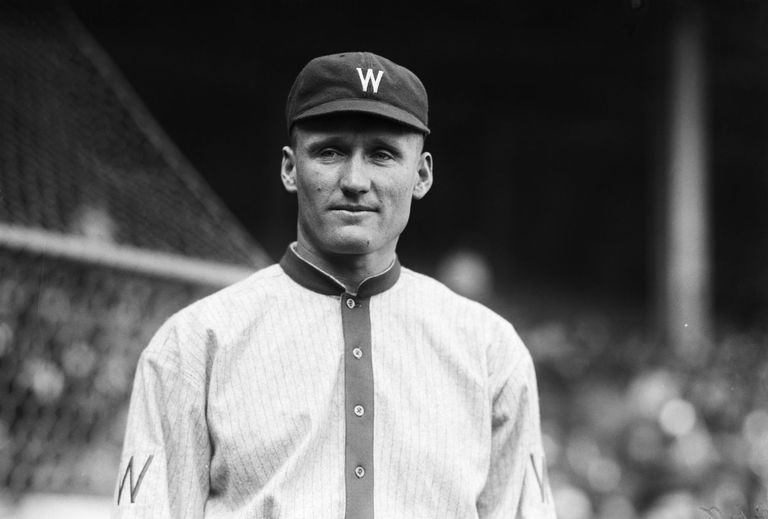 Baseball Player Walter Johnson of Washington Senators