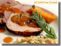 Roast Pork with Peach Gastrique