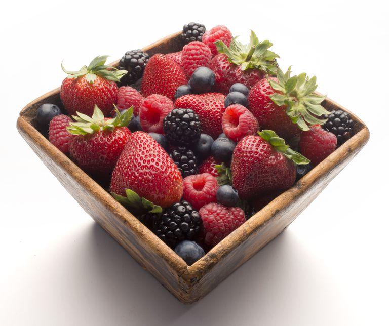 Berries, strawberrie, raspberries, blueberries and blackberries