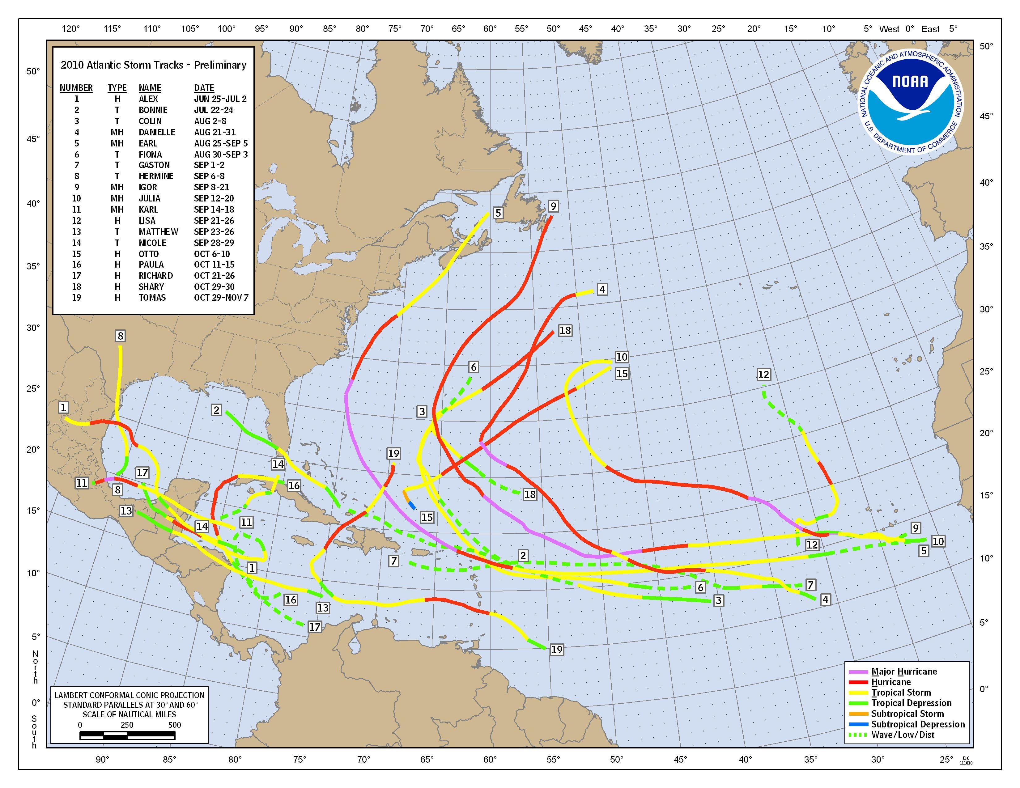 2005 Atlantic Hurricane Season  |Atlantic Hurricane Tracking Map