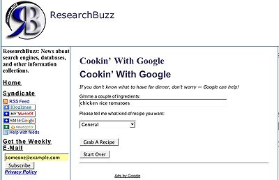 Cookin' With Google