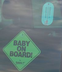A baby left in a hot car can quickly get too hot and suffer heat stroke.