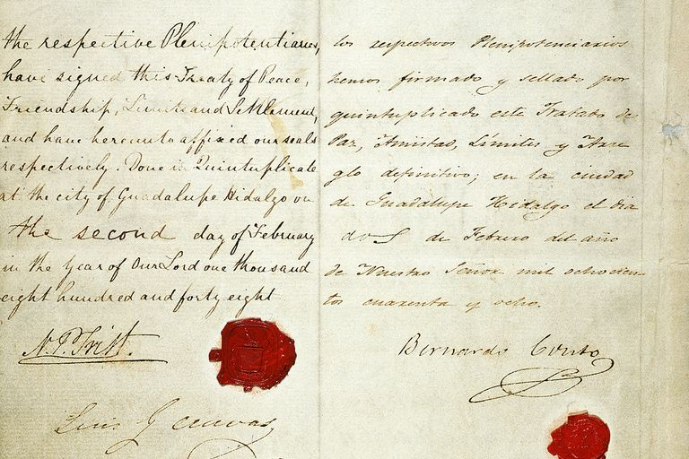 the treaty of guadalupe hidalgo Signed in 1848, the treaty of guadalupe hidalgo ended the war between the  united states and mexico and gave a large portion of mexico's northern  territories.