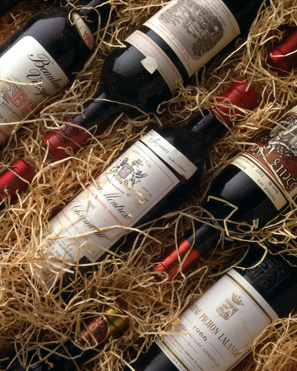 Wine bottles packed in straw. Photo: Getty Images / Jackson Vereen