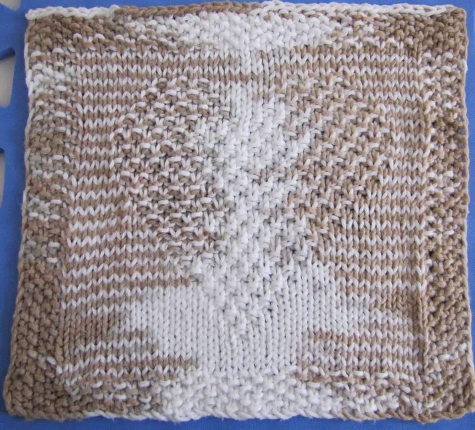 Heart washcloth