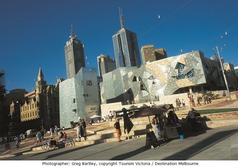 Federation Square, photograph by Greg Bartley © Tourism Victoria / Destination Melbourne