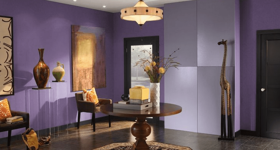 Purple Foyer Paint : Tips for choosing interior paint colors