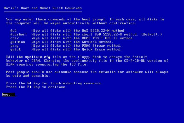 How To Run Dban On Windows Vista - welovesoup