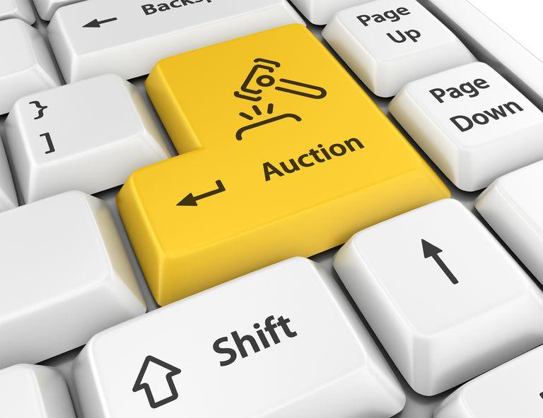 Internet Auction Key on Keyboard