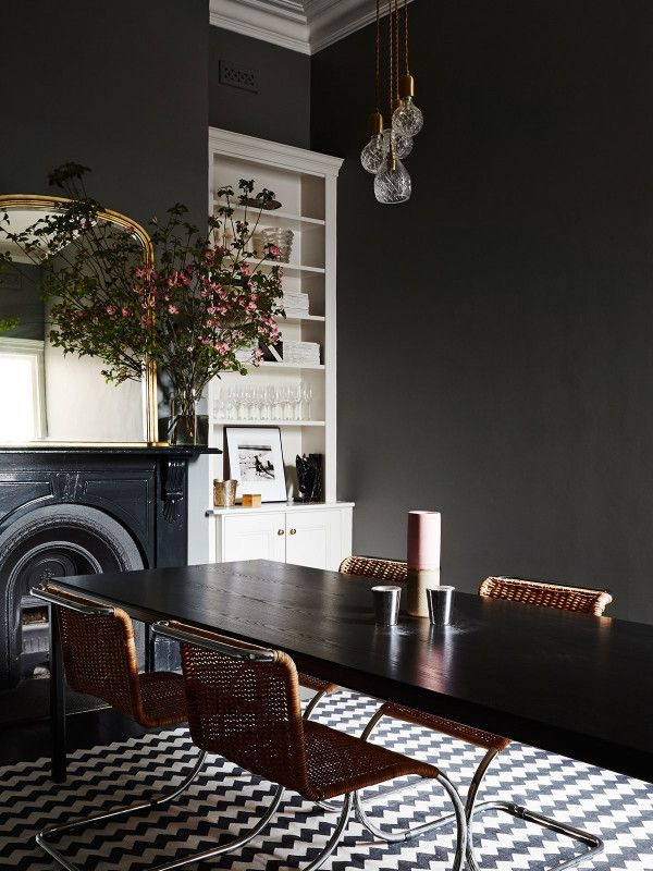8 Black Dining Rooms With Spooky Style