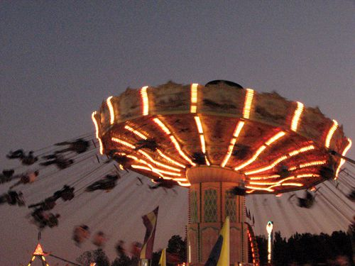 The fair has most of the same rides every year but they're still fun.