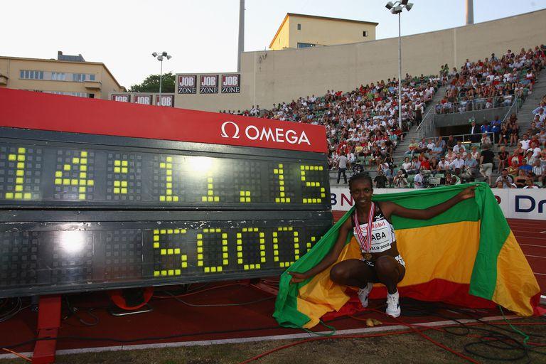 Tirunesh Dibaba set the 5000-meter world record in Oslo in 2008.