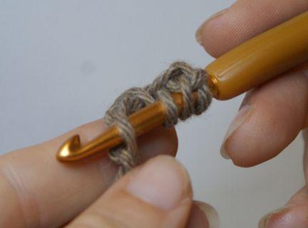 Treble Crochet Stitch in Progress