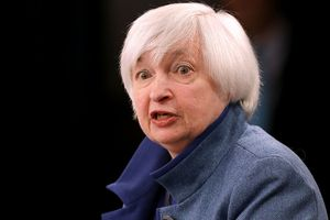 Janet Yellen announcing current fed funds rate