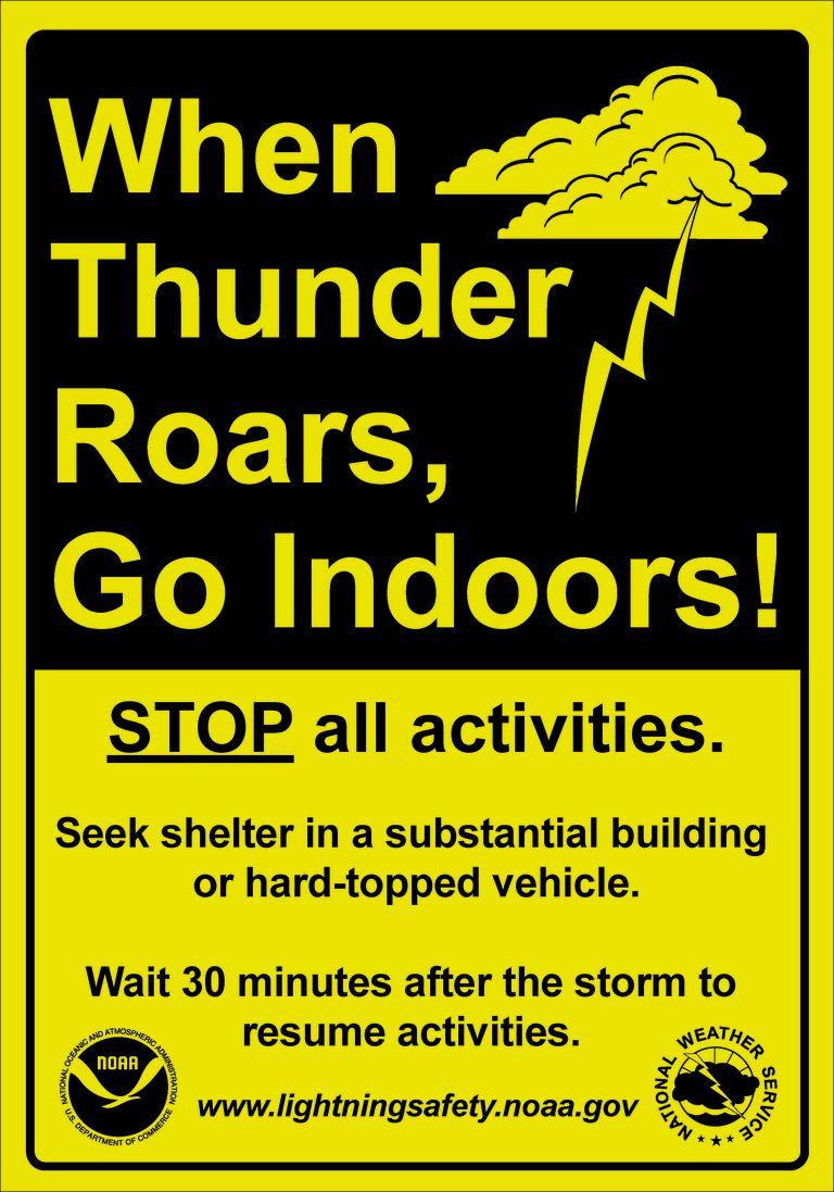 thunder roars wx safety slogan