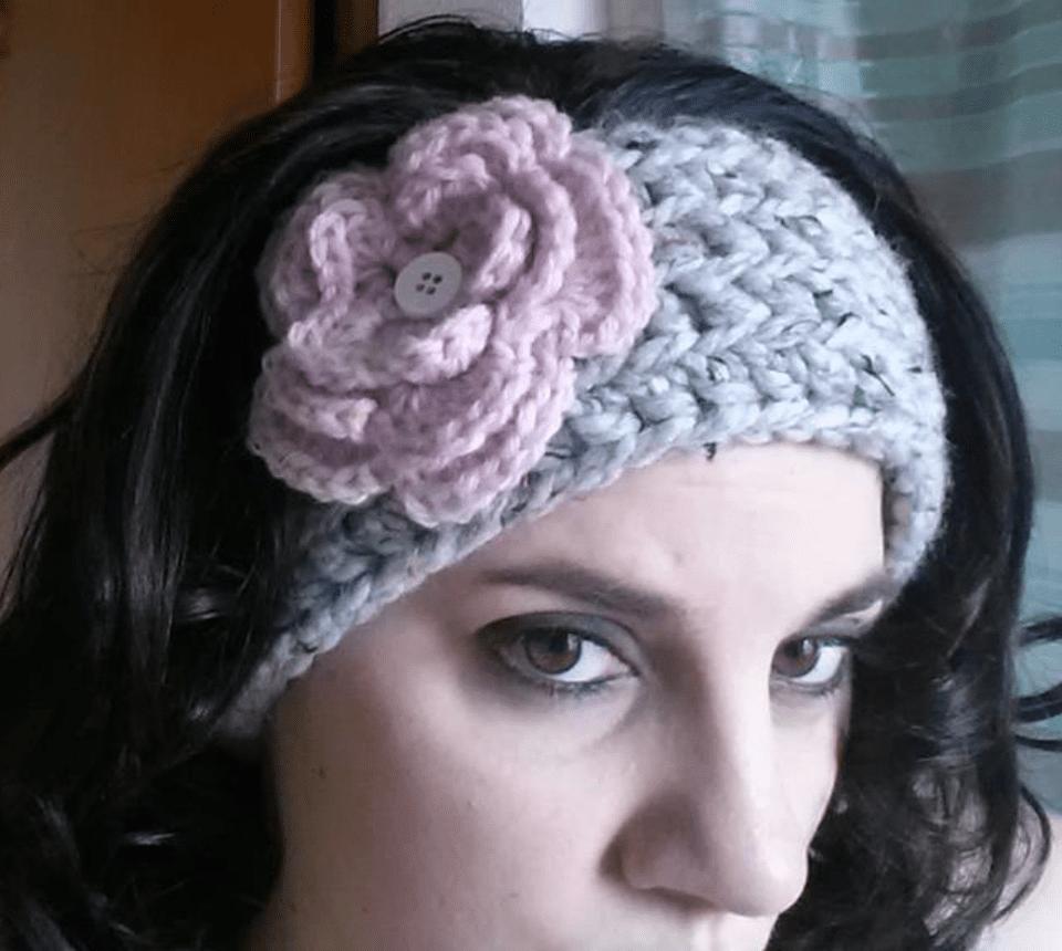 10 free crochet head wrap patterns chunky crochet ear warmer with flower bankloansurffo Image collections