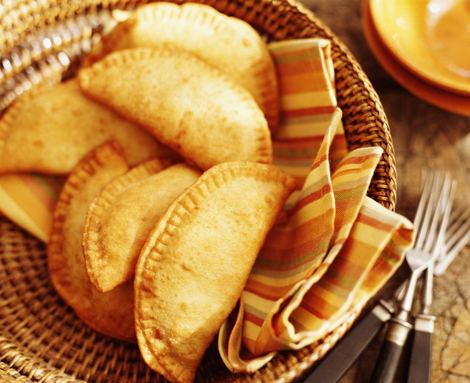 Empanadas in basket