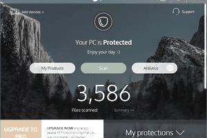 Screenshot of Panda Protection v18 in Windows 10