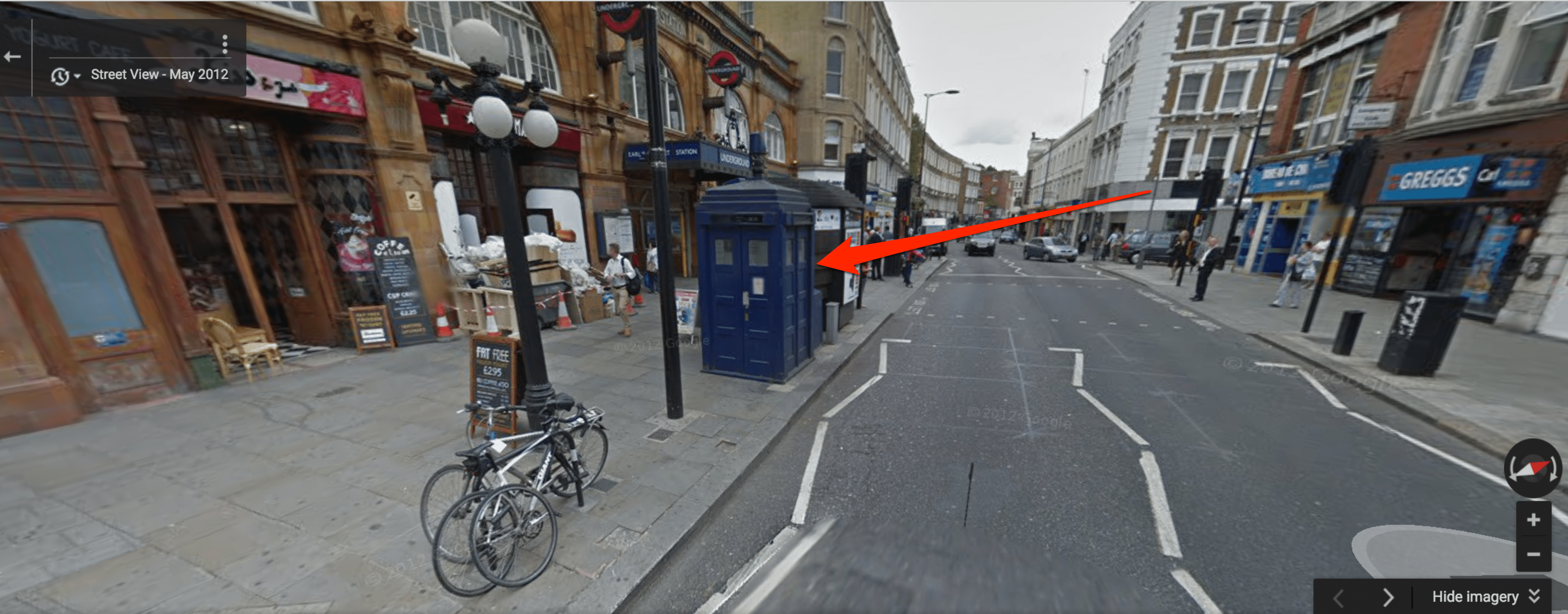 How To Find The Doctor Who Tardis In Google Maps - Google maps street view us windows 10