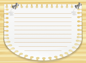 Note paper against wood for a PowerPoint background