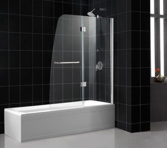 Gallery of frameless glass showers dreamline aqua frameless hinged shower tub door planetlyrics Image collections