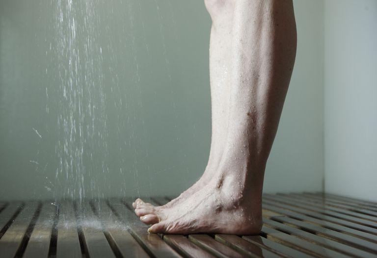 Woman's legs in shower